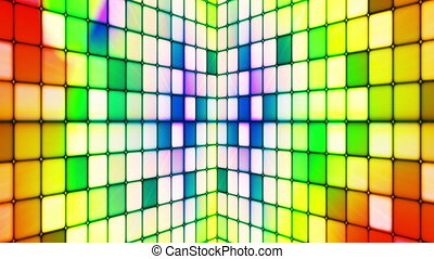 Broadcast Twinkling Hi-Tech Cubes Walls, Multi Color,...