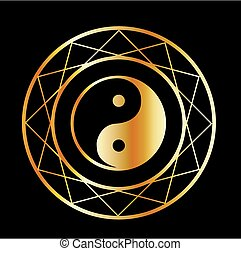 Golden symbol of Taoism Daoism
