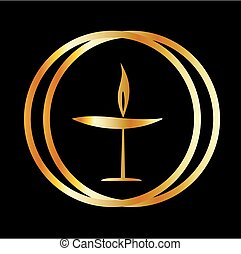 The Flaming Chalice- the symbol of Unitarianism and...