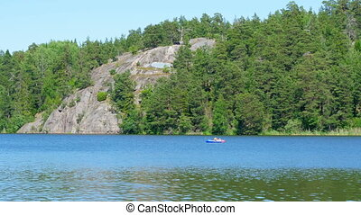 quot;people swimming scandinavian waters near stockholm,...