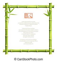 Bamboo frame. Vector illustration, eps10.