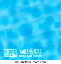 Water surface. - Seamless background, vector illustration,...