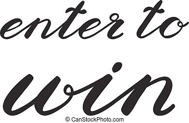 Enter to win Banner for social media contests - Enter to win...