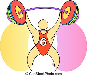 Weightlifter with a barbell - Weightlifter in the...