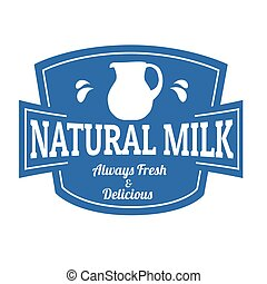 Natural milk label or stamp