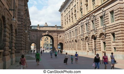 """""""stockholm old city and parliament view, sweeden"""""""