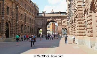 """stockholm old city and parliament view, sweeden"""