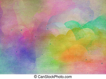 Abstract colorful watercolor background. Digital art...