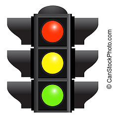 traffic lights isolated  on white background. Bitmap version