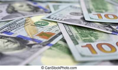 Dollar Banknotes - Many Dollar Banknotes. Extra Close Up