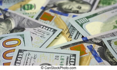 Many Dollar Banknotes.