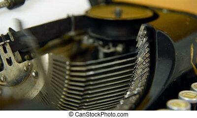 Printing on old typewriter.