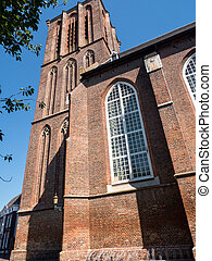 Historic church in the town of Elburg