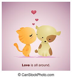 Cute Animals Collection Love is all around 1