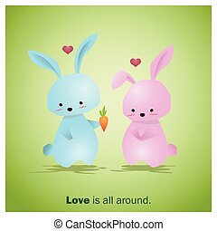 Cute Animals Collection Love is all around 2