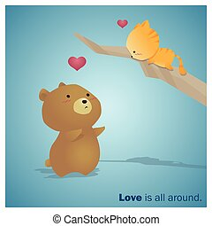 Cute Animals Collection Love is all around 3