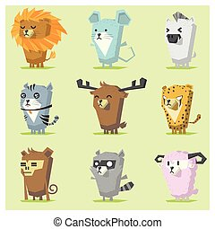 Cute Animals  Icon Set 3