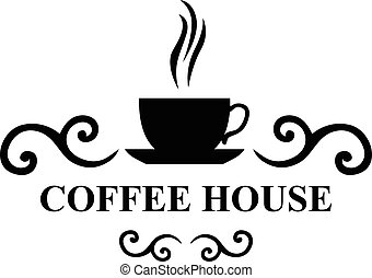 Coffee house icon - Vector illustrations of Coffee house...