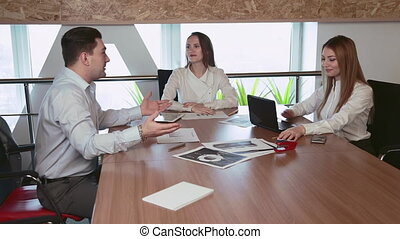 Business negotiations in the office - Business negotiations...