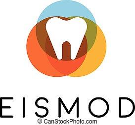 dental, abstratos, Símbolo, Criativo, vetorial, logotipo, ícone, dente,  universal, desenho