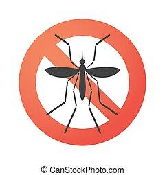 Zika virus bearer mosquito in a forbidden signal -...