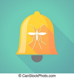 Zika virus bearer mosquito  in a bell icon