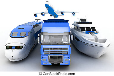 Transport - Transport. 3d render illustration