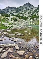 Samodivski Lakes in cloudy day, Pirin mountain, Bulgaria