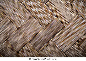 Wicker crisscross place mat horizontal image