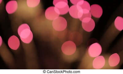 Fireworks Abstract Bokeh - Defocused fireworks with blurred...