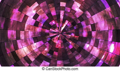 Twinkling Hi-Tech Grunge Flame Tunnel, Pink, Abstract, Loopable, HD