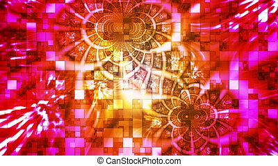 Twinkling Abstract Hi-Tech Light Patterns, Multi Color, Abstract, Loopable, HD