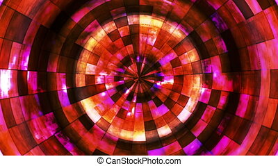 Twinkling Hi-Tech Grunge Flame Tunnel, Golden, Abstract, Loopable, HD