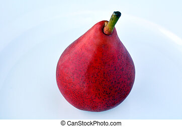 One Red pear - Anjou - One Red pear , Anjou, cultivar of...