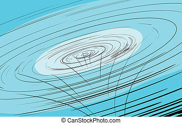 Abstract hurricane funnel in blue - Abstract hurricane...