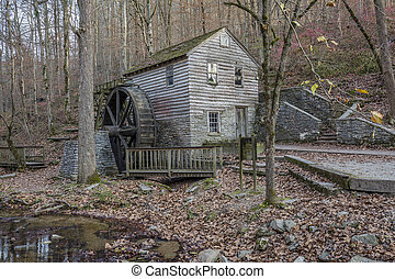 Historic Old Grist Mill - Tennessee - Historic 1798 Grist...