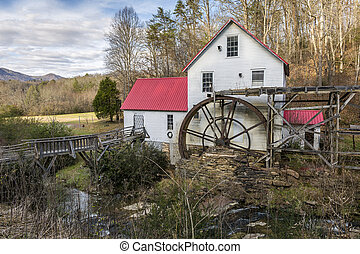 Historic Old Grist Mill - North Carolina - Historic Old...