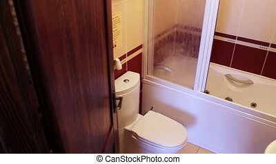 Private Bathroom in Hotel - Entry and movement in the...