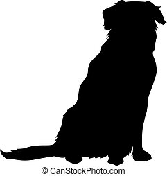 Golden retriever silhouette - Vector silhouette of a dog...