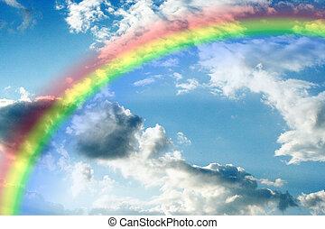 rainbow - abstract scene solar sky