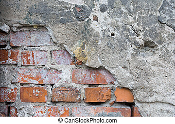 Brickwall with cement Background