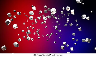 Broadcast Flying Hi-Tech Cubes, Multi Color, Abstract,...