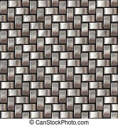 Metal Herringbone Weave #04
