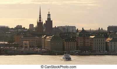 """stockholm old city view at sunset, sweeden"""