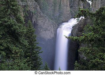 Tower Falls, Yellowstone, waterfalls, yellowstone national...