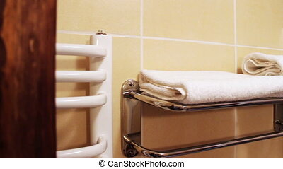 Girl in the Shower Takes a Towel