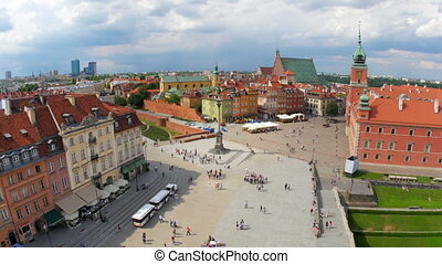 """warsaw old town square, poland, 4k"""