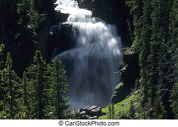 Mystic Falls, Yellowstone National Park, Wyoming, USA