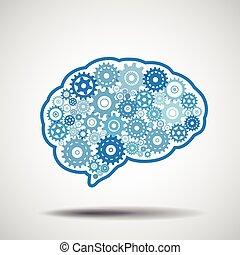 Brain gear. Artificial intellige.