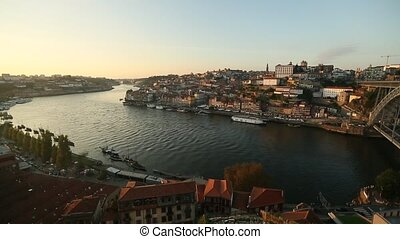 Porto, Portugal. Top view of Douro